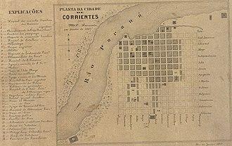 Corrientes - Plan of the city of Corrientes in June 1867.