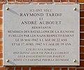 Plaque Raymond Tardif & André Aubouet, 156 rue Raymond-Losserand, Paris 14.jpg