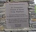 Plaque at Cairn, Magilligan - geograph.org.uk - 791681.jpg