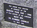 Plaque at Marian Shrine - geograph.org.uk - 824505.jpg