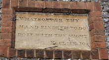 Plaque outside Sir William Borlase's School, Marlow.jpg