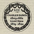 Plaque to commemorate Charles Darwins residence. Wellcome L0063040.jpg