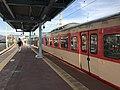 Platform of Chojabaru Station (Sasaguri Line) 3.jpg