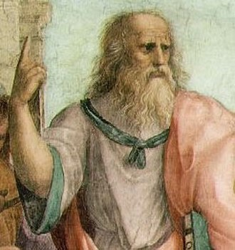 Index finger - Plato, detail from the School of Athens, Raphael, 1509