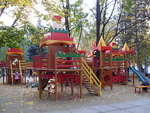 A playground near the Opera House, Chisinau.