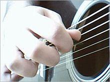 (decembro 2010)   Ludanta gitaro kun pick.jpg