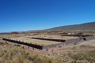Tiwanaku empire - General view of Kalasasaya complex