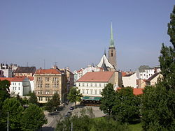 Plzen with St Bartholomew Cathedral 1.JPG
