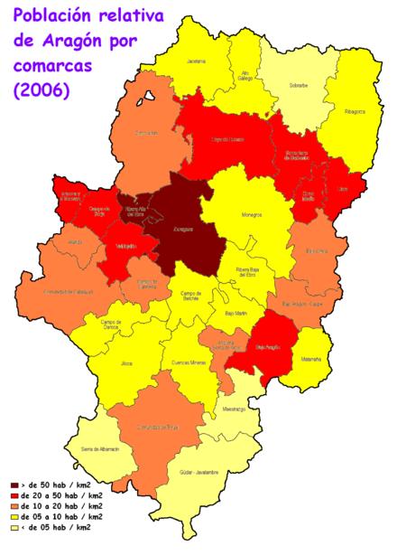 Pueblos De Teruel Mapa De Quemas En Aragon.Demografia De Aragon Wikipedia La Enciclopedia Libre