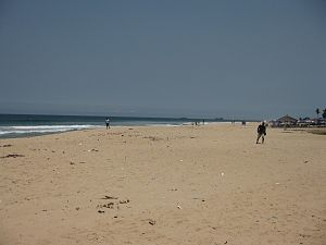 Beach of Pointe-Noire of Congo Brazza