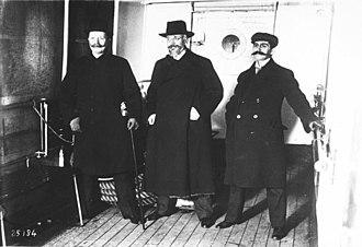 Georgios Streit - Streit (left) with Eleftherios Venizelos and Nikolaos Politis in 1912