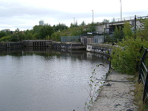 Manchester docks - Dock 3, entrance to the Bridgewater Canal locks
