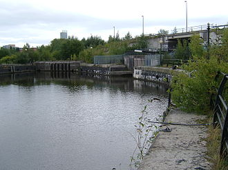 Manchester docks - Dock 3, entrance to the Bridgewater Canal locks