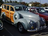 Pontiac woodie, used by early surfers.