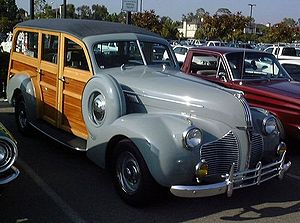 Surf culture - Pontiac woodie, used by early surfers.