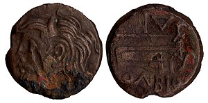 Dnieper - Human representation of the Dnepr river (known as Borysthenes) on an Ancient Greek coin of Pontic Olbia, 4th–3rd century BC