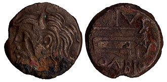 Dnieper - Human representation of the Dnieper river (known as Borysthenes) on an Ancient Greek coin of Pontic Olbia, 4th–3rd century BC