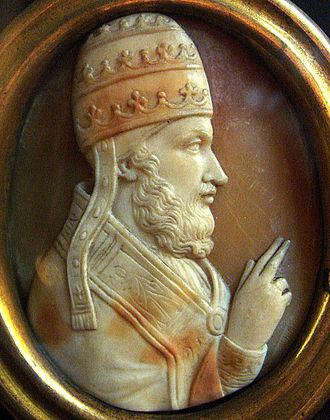 Papal election, 1159 - Pope Adrian IV cameo.