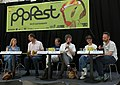 Popfest 2014 Programmpräsentation 13 Gabriela Hegedüs Andreas Mailath-Pokorny Christoph Möderndorfer Robert Rotifer Violetta Parisini Wolfgang Schlögl.jpg