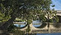 Populus alba tree and reflection of the Orb Aqueduct cf08.jpg
