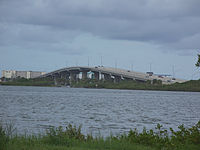 State Road A1A as it runs over the Halifax River in Port Orange.