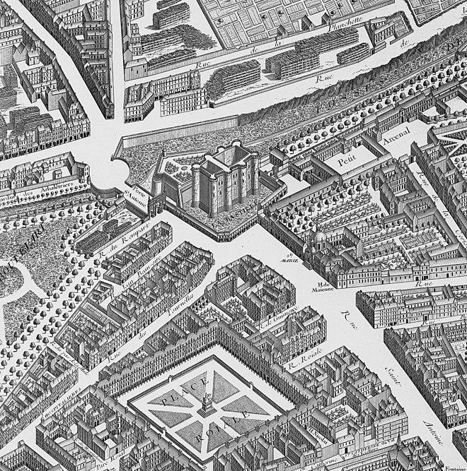 Porte SaintAntoine Wikiwand - Map of bastille area paris