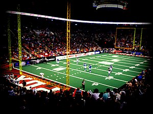 Portland Steel - The Thunder/Steel's home field at the Moda Center during a game against the San Jose SaberCats in 2014.