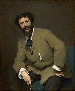 Portrait of Carolus-Duran (1879) by John Singer Sargent