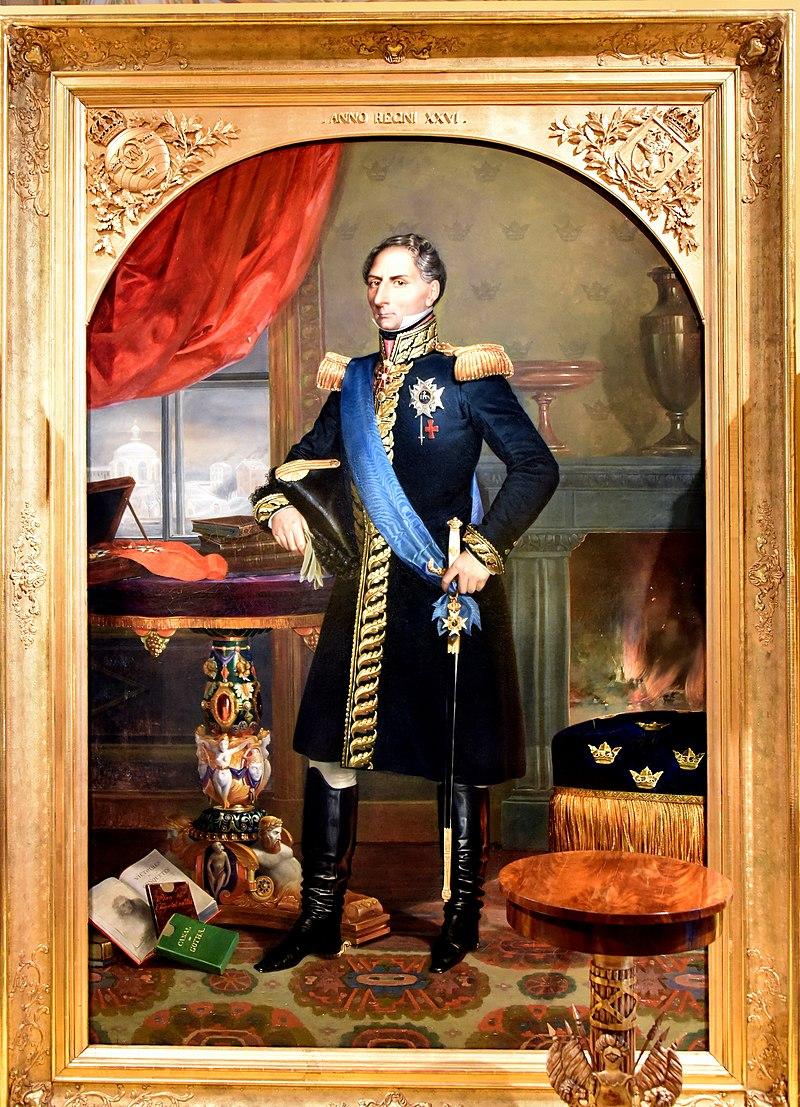 Портрет Карла XIV Йохана (1763-1844), 1843, короля Швеции и Норвегии, Эмиль Маскре, Национальный музей, Стокгольм, Sweden.jpg