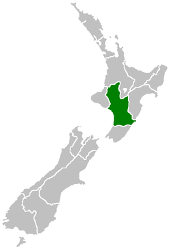 Location of Manawatu-Wanganui Region