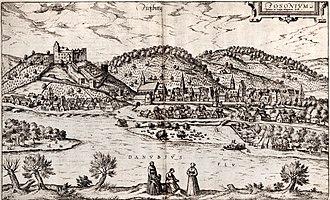 Bratislava - Pressburg in 1588