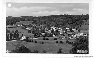 Škofljica - Image: Postcard of Škofljica (2)