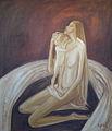 Poupetova Miluse - Nejsladsi polibeni, olej na platne, 140x140 cm, r. 1989.jpg