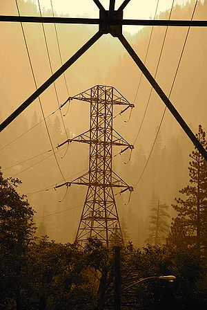 Power lines at Big Creek, CA - Southern Califo...