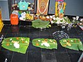 Prasadam on banana leaves.jpg