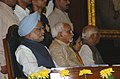 Pratibha Patil, the Vice President Shri Hamid Ansari and the Prime Minister, Dr. Manmohan Singh attending the 60th anniversary of Independence Day Celebrations organised by the Lok Sabha Speaker.jpg