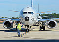Preparing to launch a P-8A Poseidon aircraft 131129-N-XY761-022.jpg