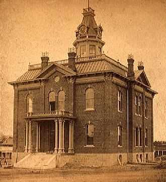 Prescott, Arizona - First Prescott Courthouse, circa 1885