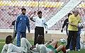 President Mahmoud Ahmadinejad, Iran's national football (soccer) team - 28 February 2006 (19 8412090596 L600).jpg