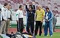President Mahmoud Ahmadinejad, Iran's national football (soccer) team - 28 February 2006 (3 8412090596 L600).jpg