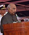 President Ram Nath Kovind awards the President's Colour to the Submarine Arm of Indian Navy (4) (cropped)