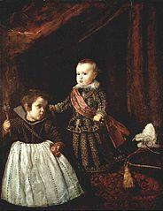 Le Prince Baltasar Carlos avec un nain