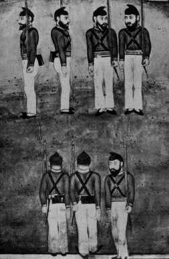 Fauj-i-Khas - Fauj-i-Khas soldiers drilling