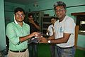 Probuddho Ganguly Receives Prize From Rangan Datta - Wikimedia Meetup - AMPS - Kolkata 2017-04-23 6931.JPG