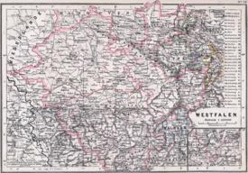 Karte der Provinz Westfalen 1905