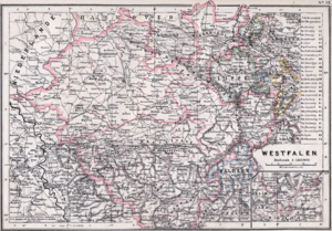 Province of Westphalia - Map of the Province of Westphalia (1905)