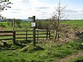 Public footpath to Acomb - geograph.org.uk - 1388032.jpg