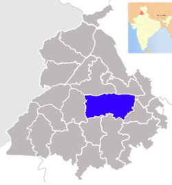 Location of Ludhiana district