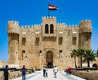 Citadel of Qaitbay building in Egypt