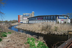 Quequechan River - View looking west from Quequechan Street, Fall River